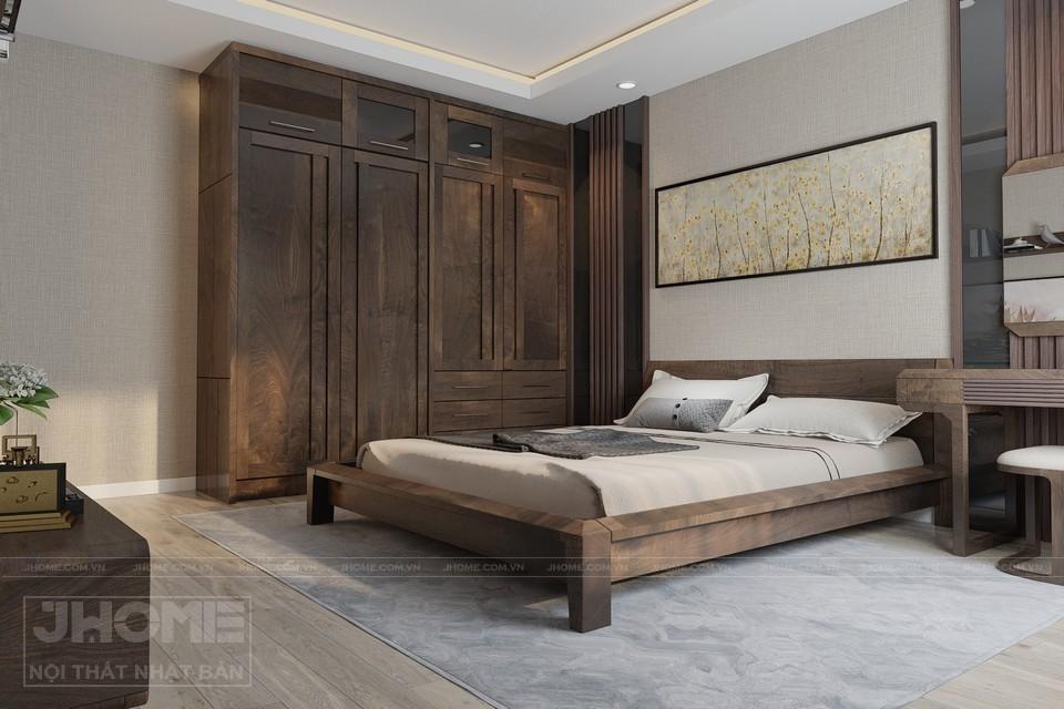 Mẫu giường gỗ óc chó truyền thống