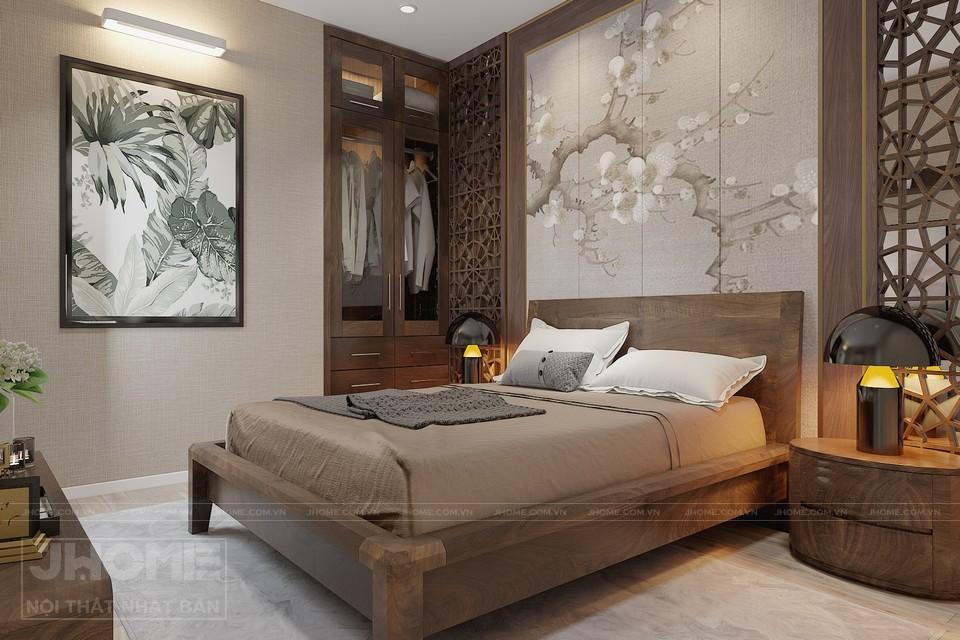 Tường phòng ngủ mang lại cảm giác nhẹ nhàng