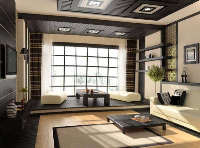 Thiết kế với hai phong cách ngồi kiểu Nhật Bản giúp mở rộng không gian căn phòng