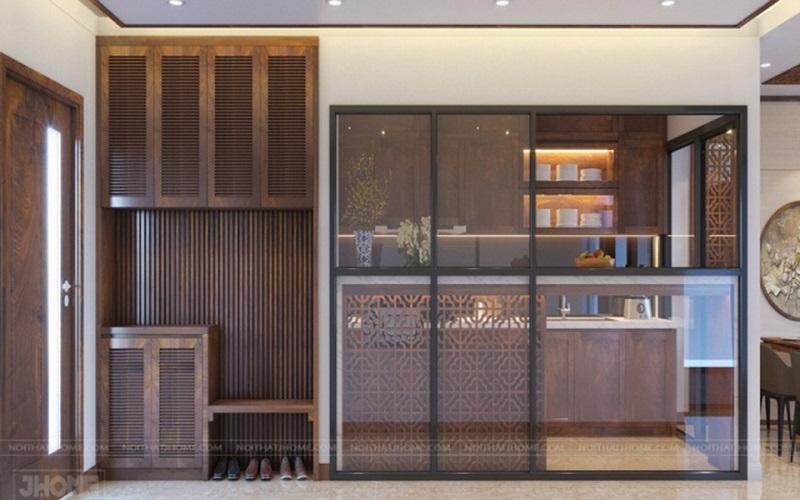 gỗ óc chó trong thiết kế nội thất
