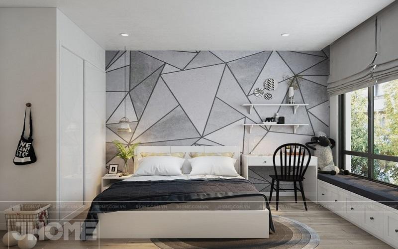 nội thất thông minh phòng ngủ trừu tượng hóa